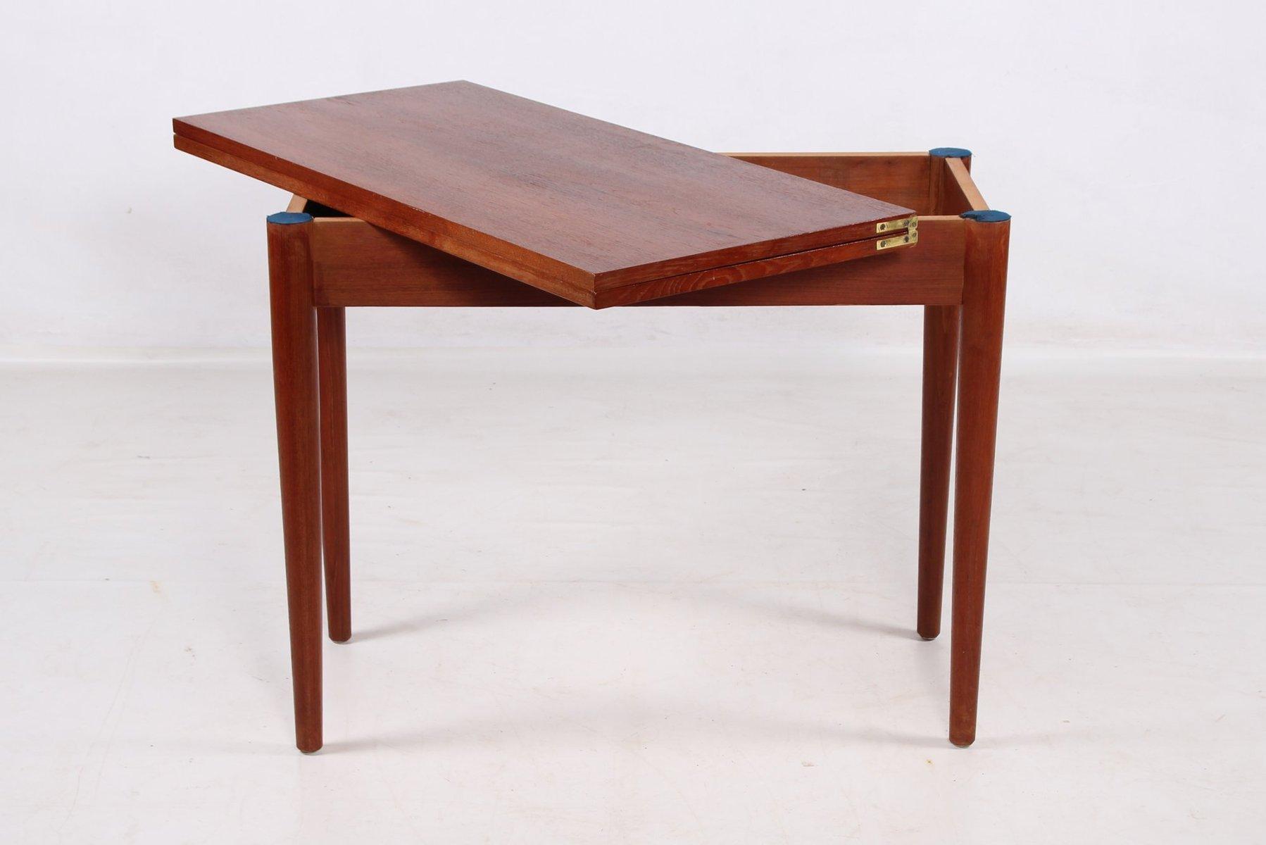 Dänischer Teak Spieltisch mit Faltbarer Tischplatte   Kinderzimmer > Kindertische   Braun   Teakholz