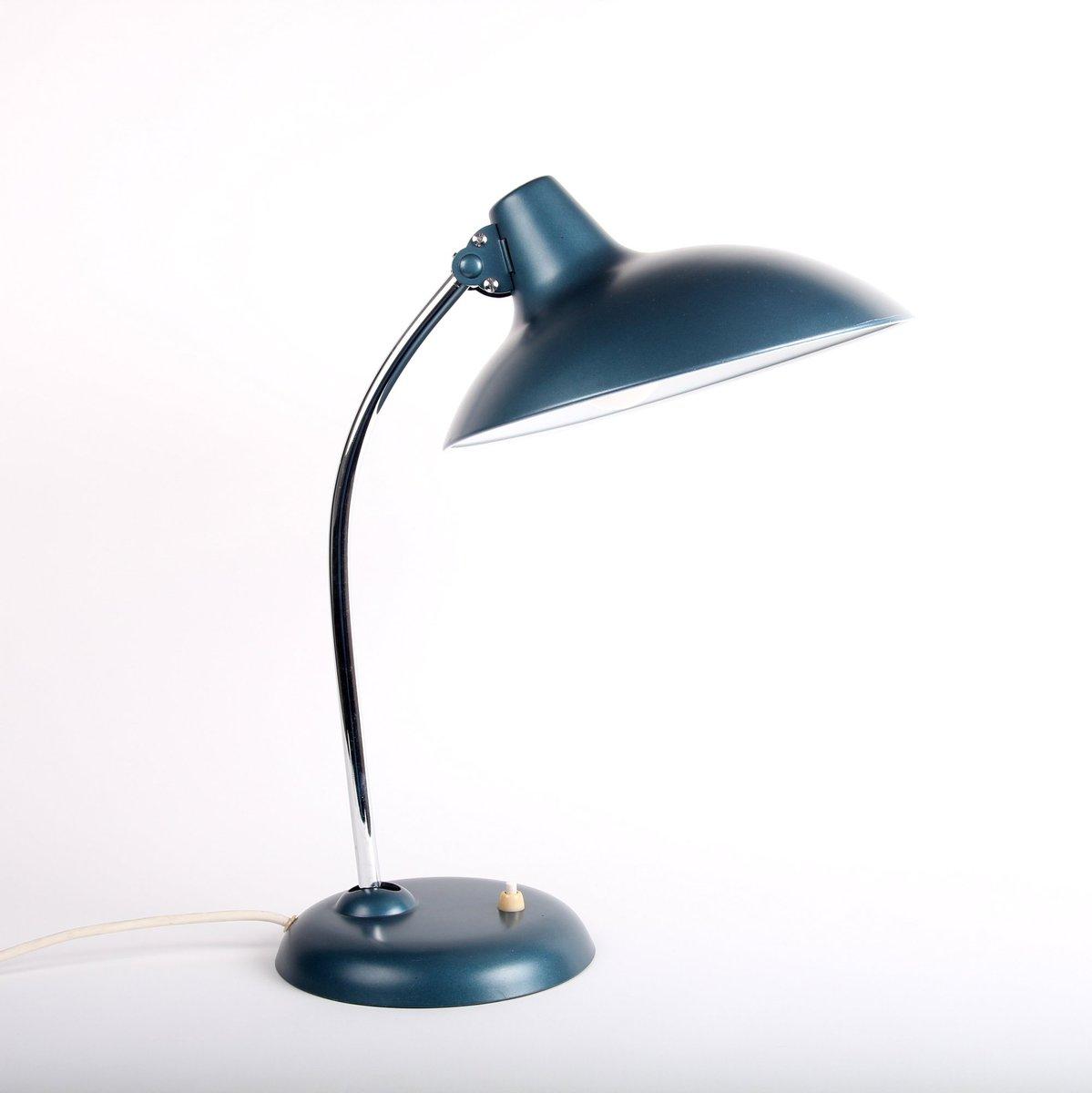 Metallische Blaue Lampe von Christian Dell für Kaiser Lampen, 1960er
