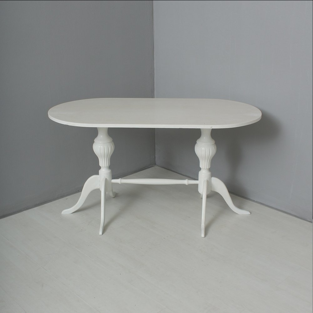 Antique White Side Table 1880s For Sale At Pamono