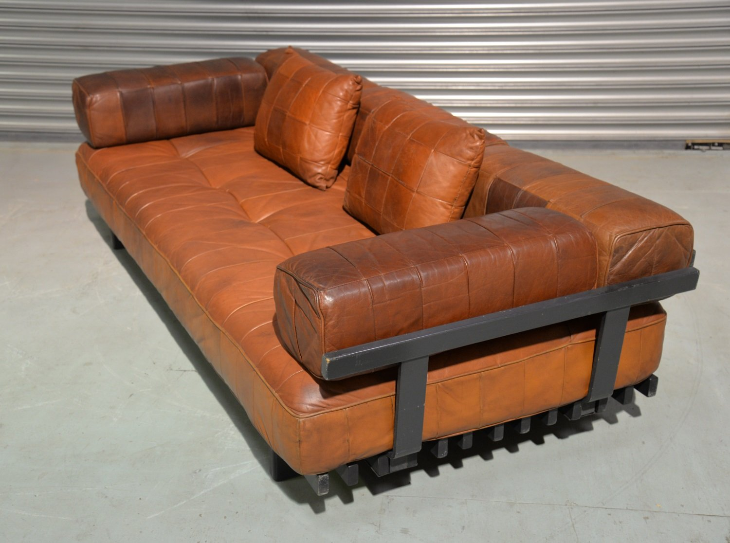 Swiss Ds 80 Leather Daybed From De Sede 1960s