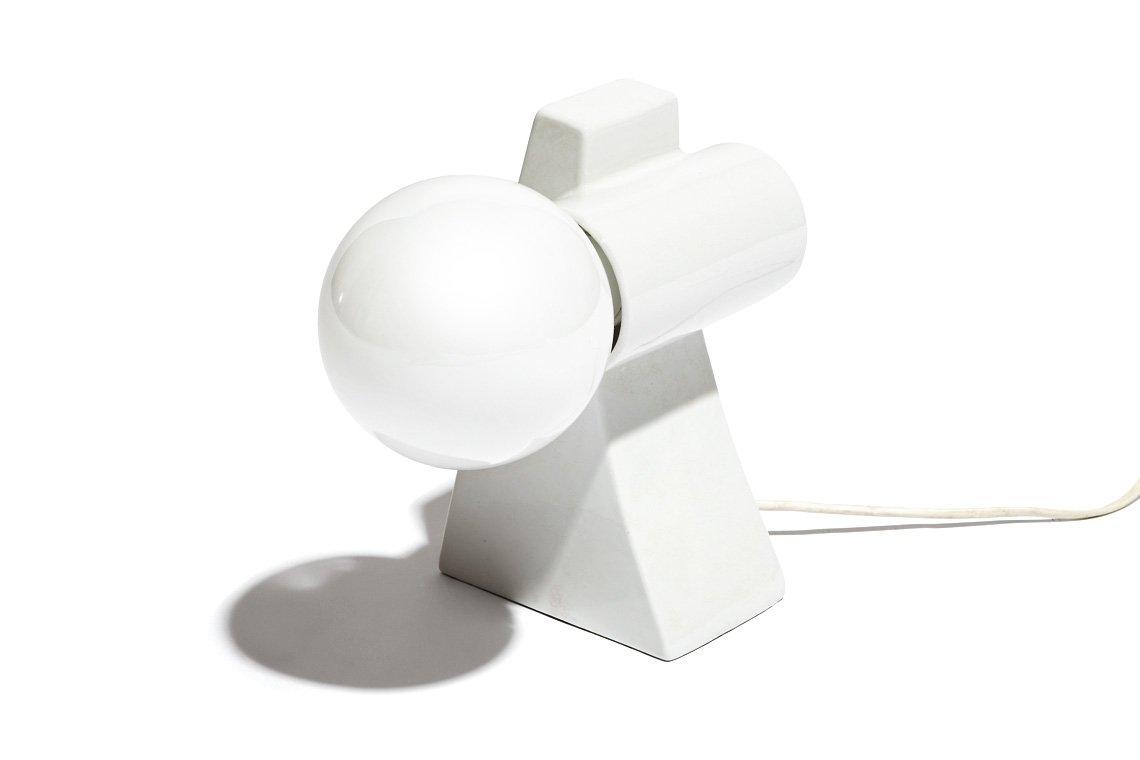 Würfelförmige Tischlampe, 1960er