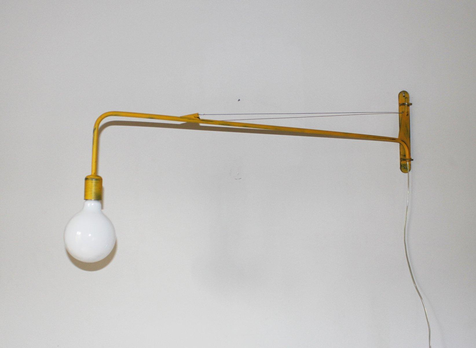 Gelbe Industrie Wandlampe