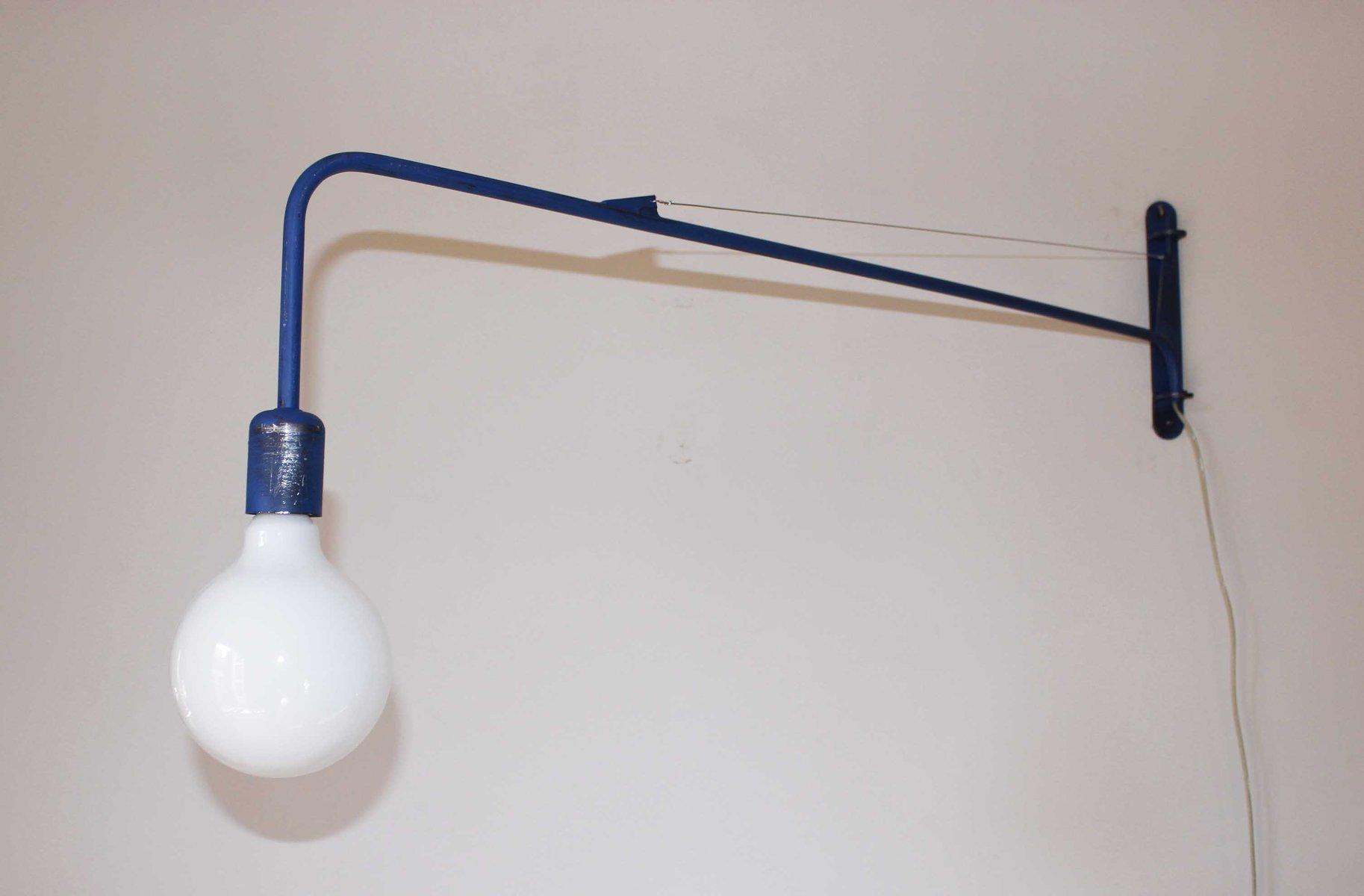 Blaue Industrie Wandlampe