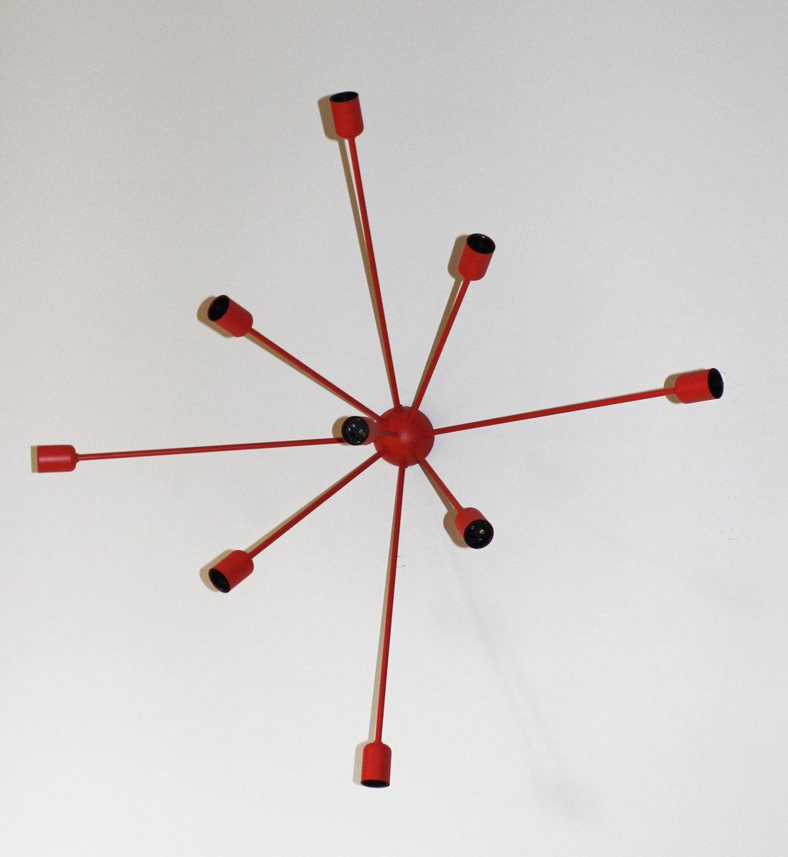 Rote Sputnik Wandlampe
