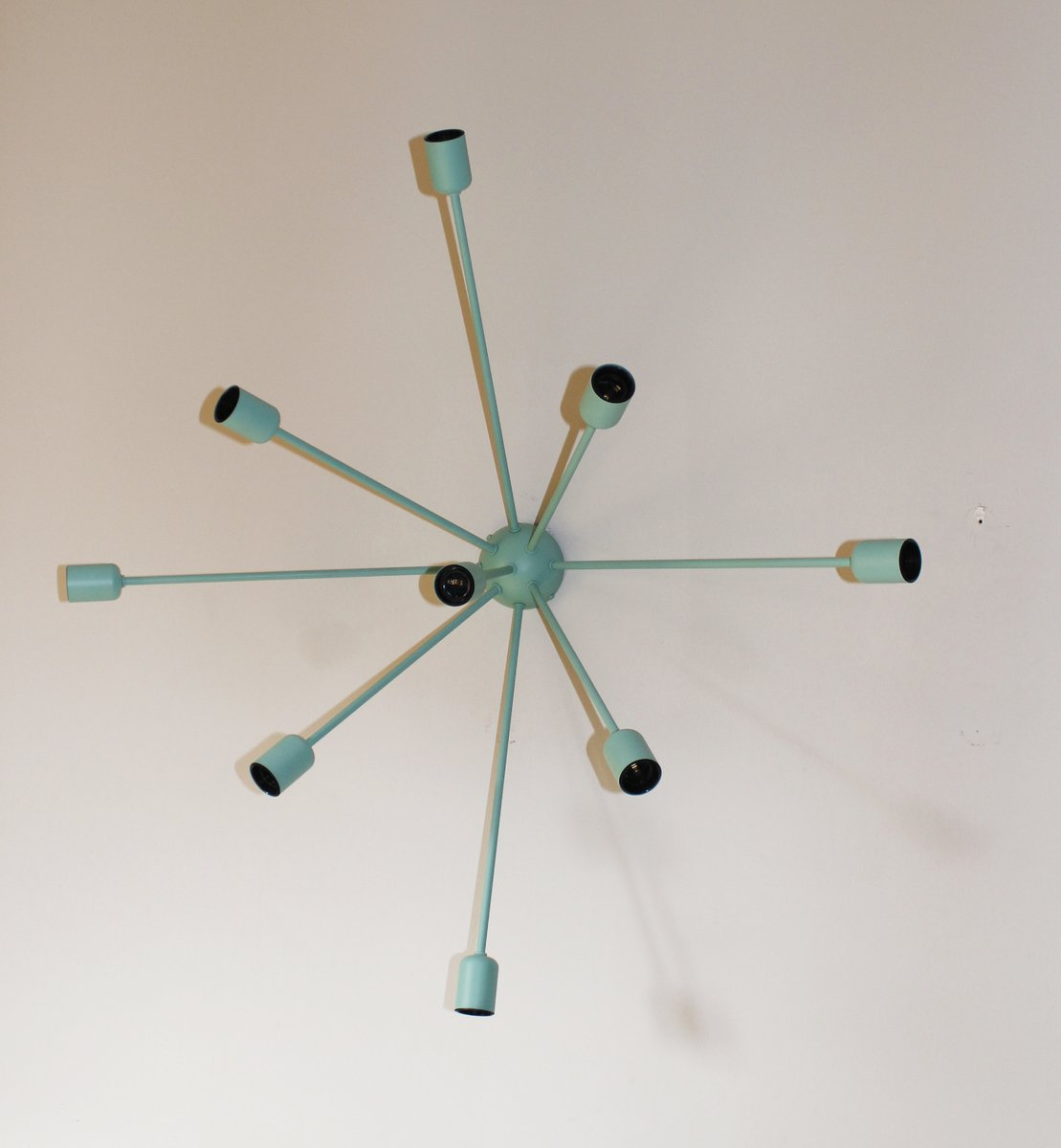 Hellblaue Sputnik Wandlampe