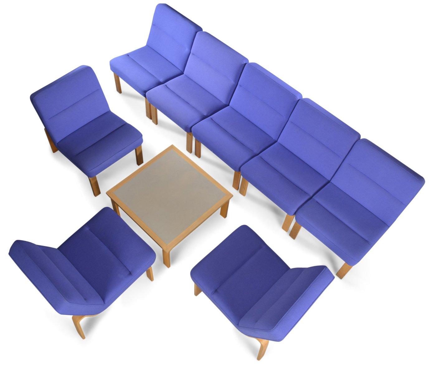 Modulares Vintage Sofa and Couchtisch Set von Rud Thygesen & Johnny Sø...