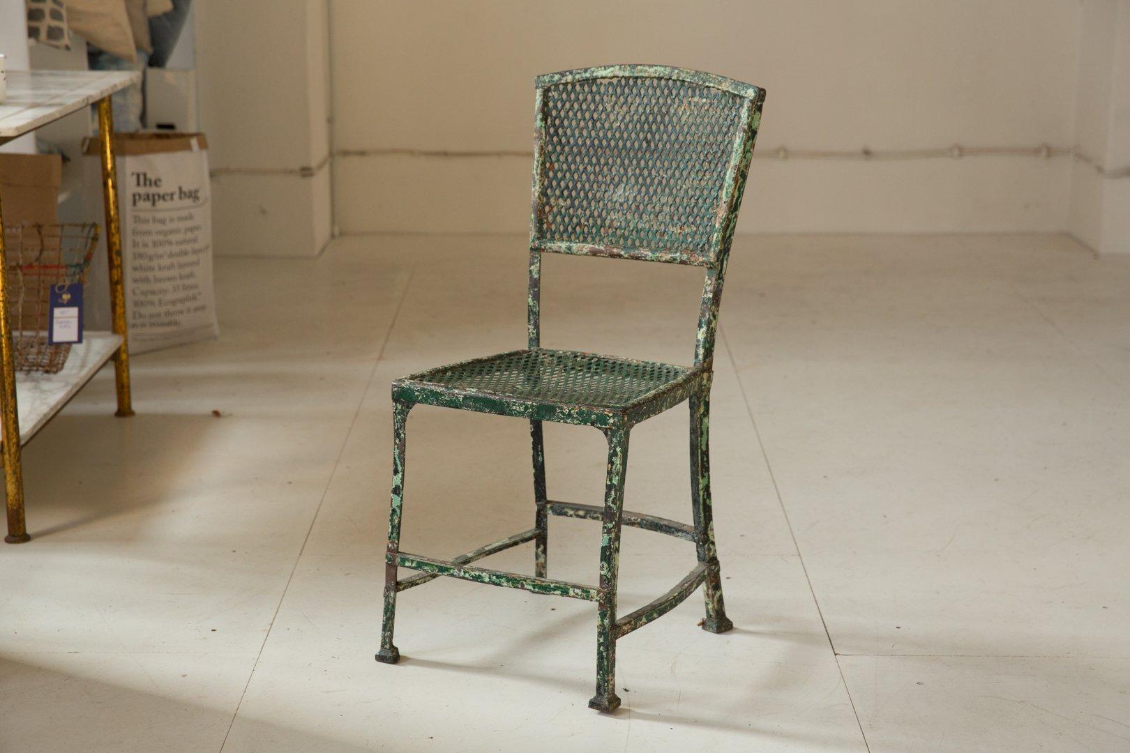 chaise antique en fer 1890s en vente sur pamono. Black Bedroom Furniture Sets. Home Design Ideas