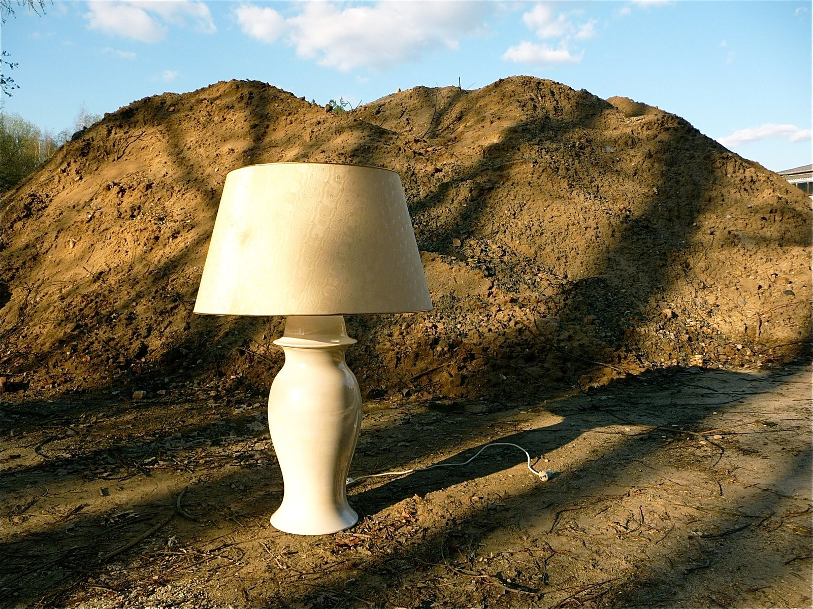 Charmant Large Ceramic Table Lamp From Tommaso Barbi, 1960s