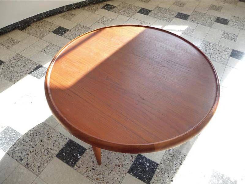 table basse en teck avec dessus r versible par ejvind a johansson pour ludwig pontoppidan en. Black Bedroom Furniture Sets. Home Design Ideas