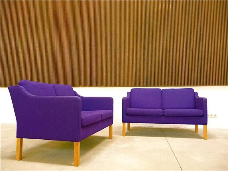 2-Sitzer Sofa Modell 2522 von Børge Mogensen für Fredericia, 2er Set