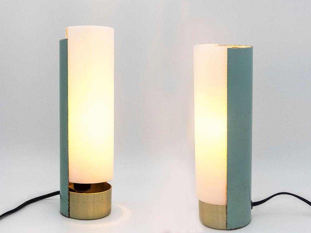 Vintage Tischlampe aus Plexiglas & Metall von Mario Pasetto für Stilux...