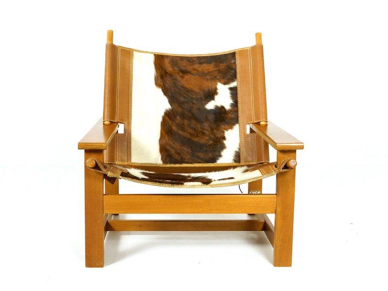 Sessel aus Rindsleder von Scanform Medellin, 1970er