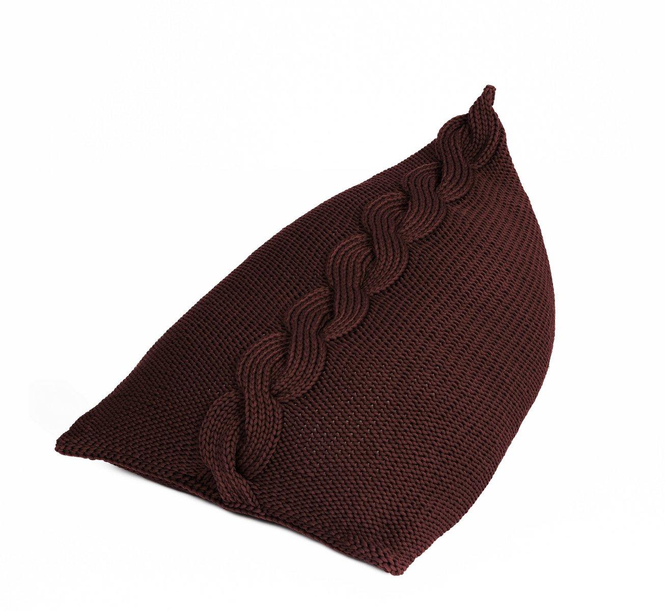 karierter gestrickter sitzsack f r erwachsene von sanfates bei pamono kaufen. Black Bedroom Furniture Sets. Home Design Ideas
