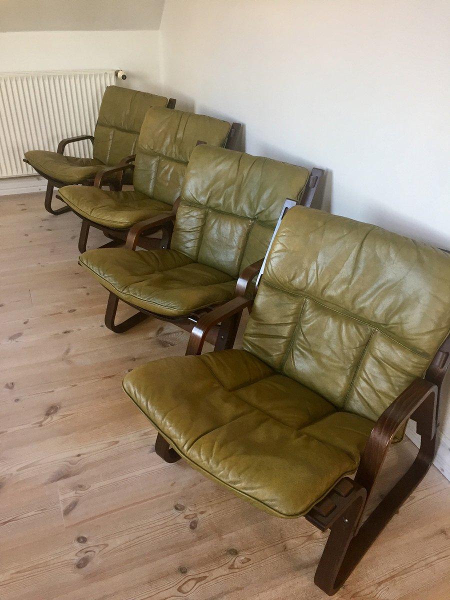 4 Sessel und 1 Beistelltisch aus Granit von Giske Carlsen für Kleppe M...