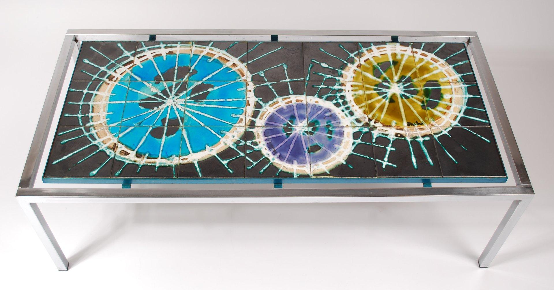 Mid Century Fliesentisch von J. Belarti, 1960
