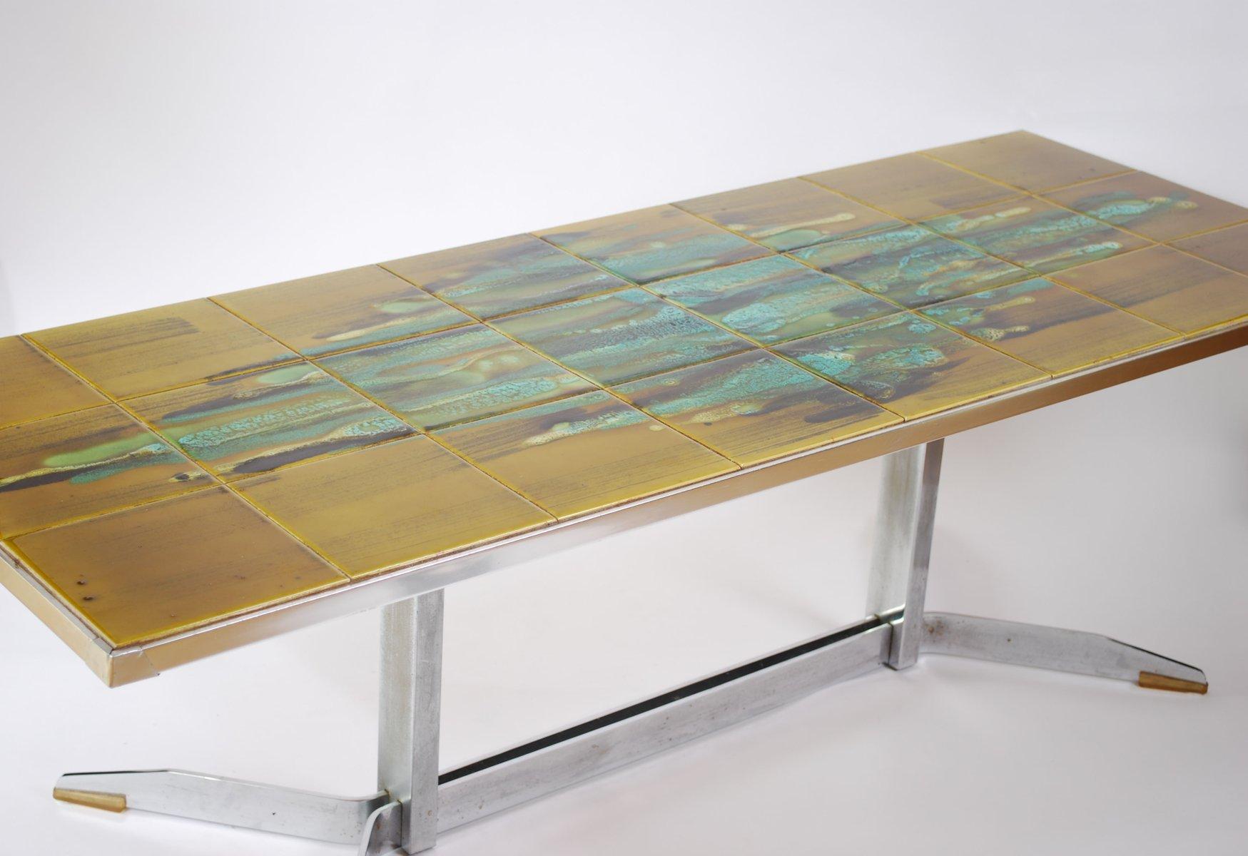 Mid-Century Fliesentisch von J. Belarti, 1960er