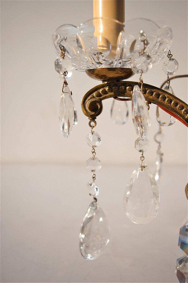 French Crystal Table Lamps, 1950s, Set Of 2