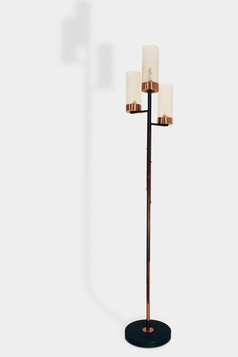 brass floor lamp 1960s for sale at pamono. Black Bedroom Furniture Sets. Home Design Ideas