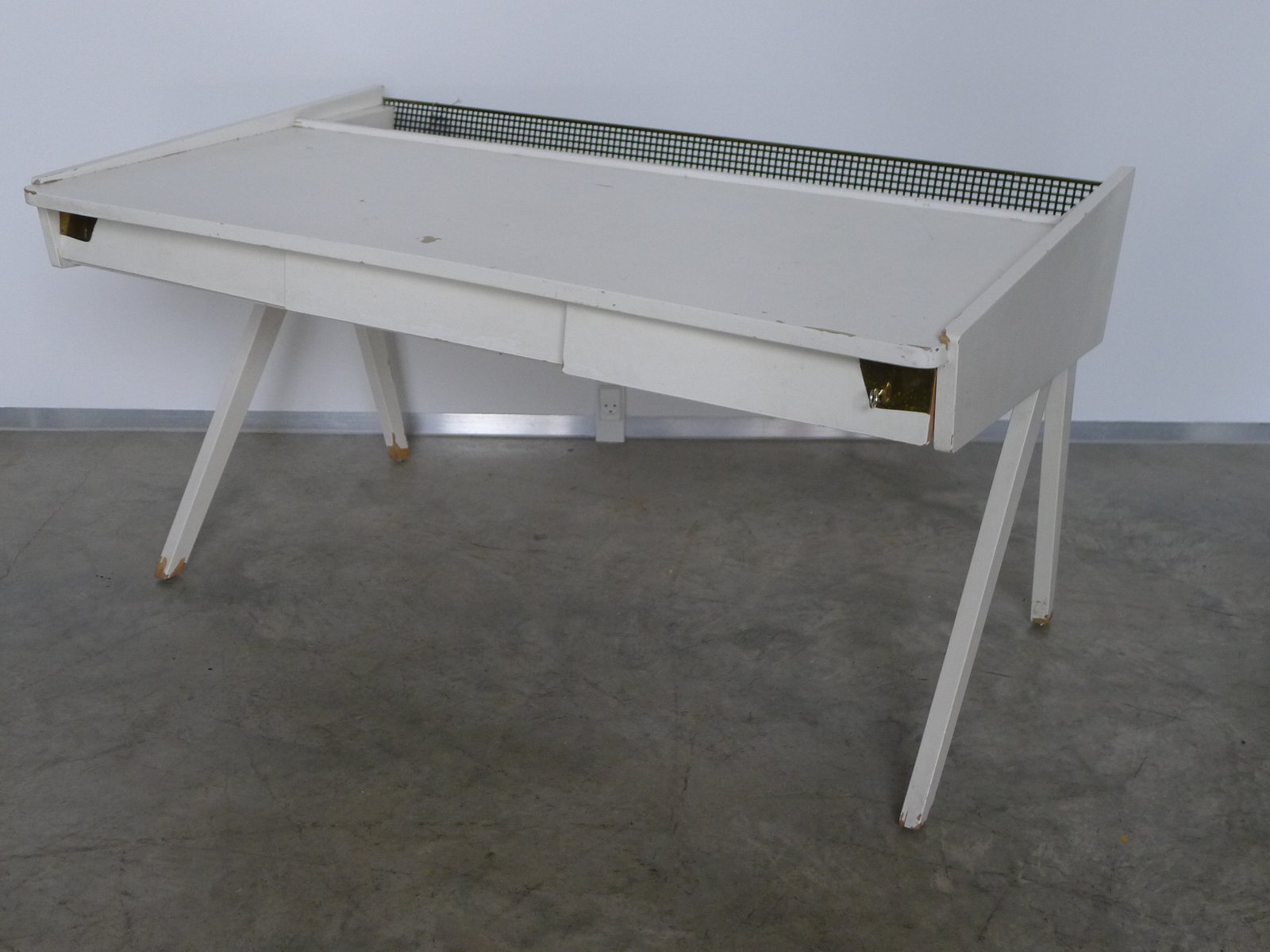 Bureau vintage blanc s en vente sur pamono