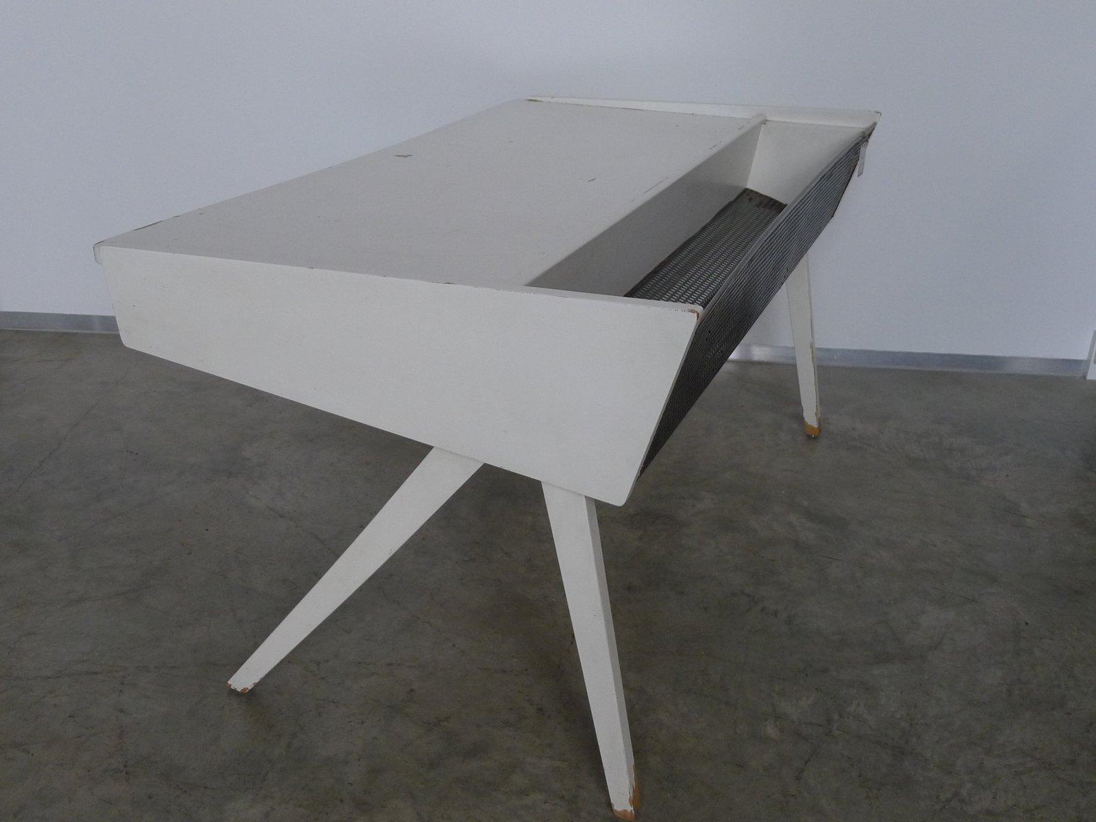 bureau vintage blanc 1950s en vente sur pamono. Black Bedroom Furniture Sets. Home Design Ideas
