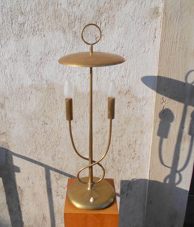 Tischlampe aus Messing, 1940er