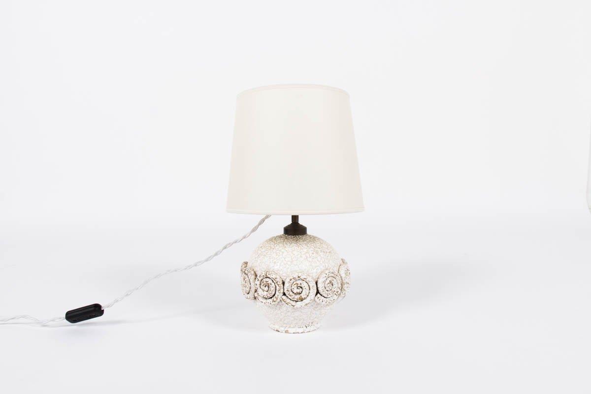 Lampe de bureau en c ramique 1950 en vente sur pamono - Lampe de bureau style anglais ...