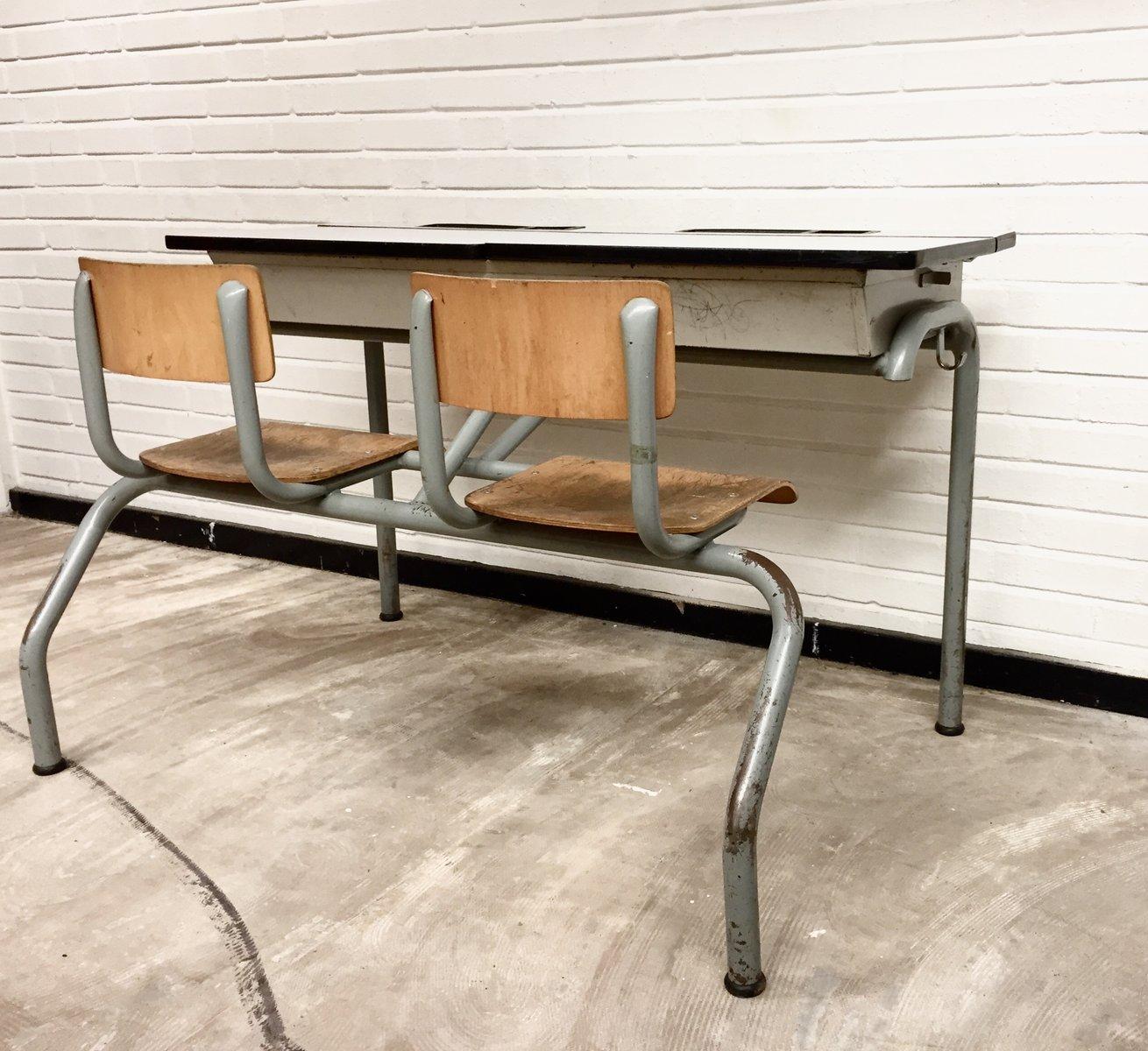 bureau d 39 ecole vintage industriel 1960s en vente sur pamono. Black Bedroom Furniture Sets. Home Design Ideas