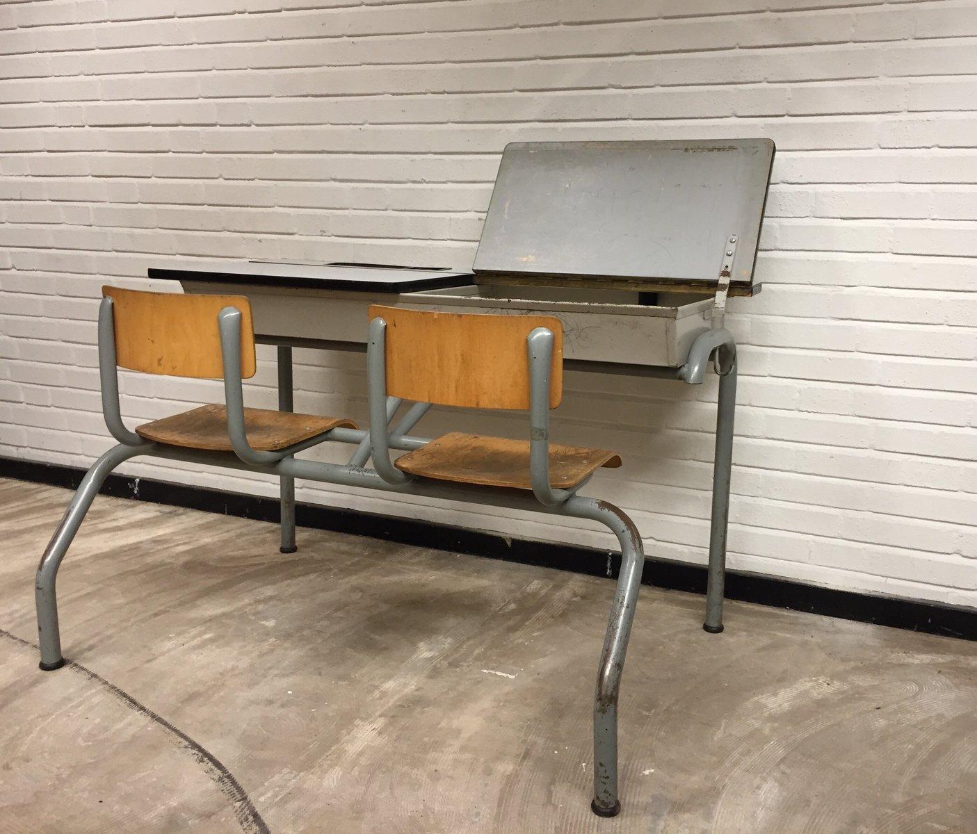 vintage industrial school desk 1960s for sale at pamono. Black Bedroom Furniture Sets. Home Design Ideas