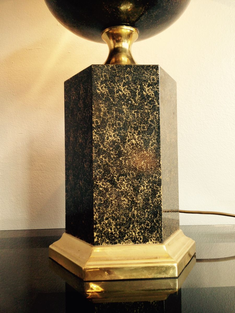 french black and gold table lamp 1970s for sale at pamono. Black Bedroom Furniture Sets. Home Design Ideas