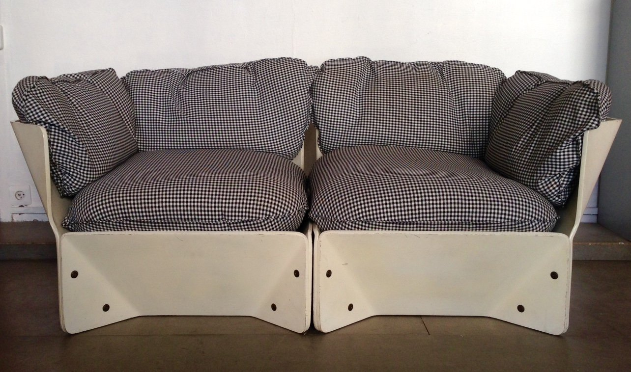 white danish sofa by knudsen lind 1960 for sale at pamono. Black Bedroom Furniture Sets. Home Design Ideas
