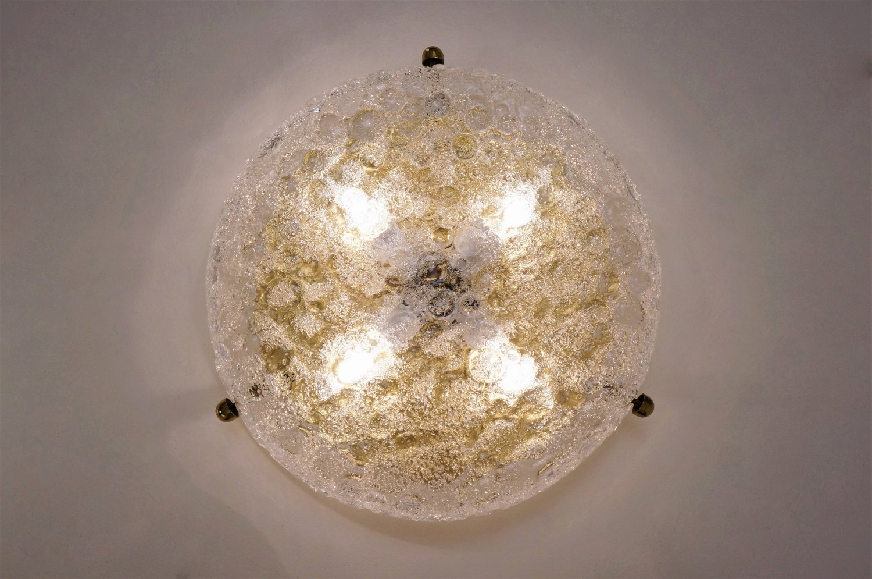 messing lampe mit glasschirm von egon hillebrand f r hillebrand 1970er bei pamono kaufen. Black Bedroom Furniture Sets. Home Design Ideas