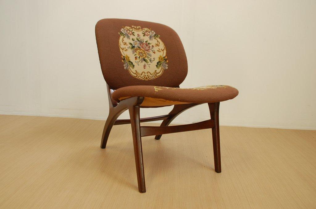 d nischer vintage lounge stuhl 1960er 2er set bei pamono. Black Bedroom Furniture Sets. Home Design Ideas