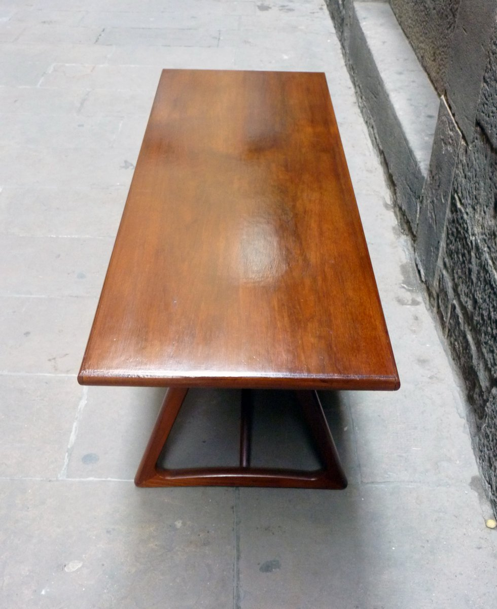 Mid-Century Large Danish Teak Coffee Table, 1960s For Sale