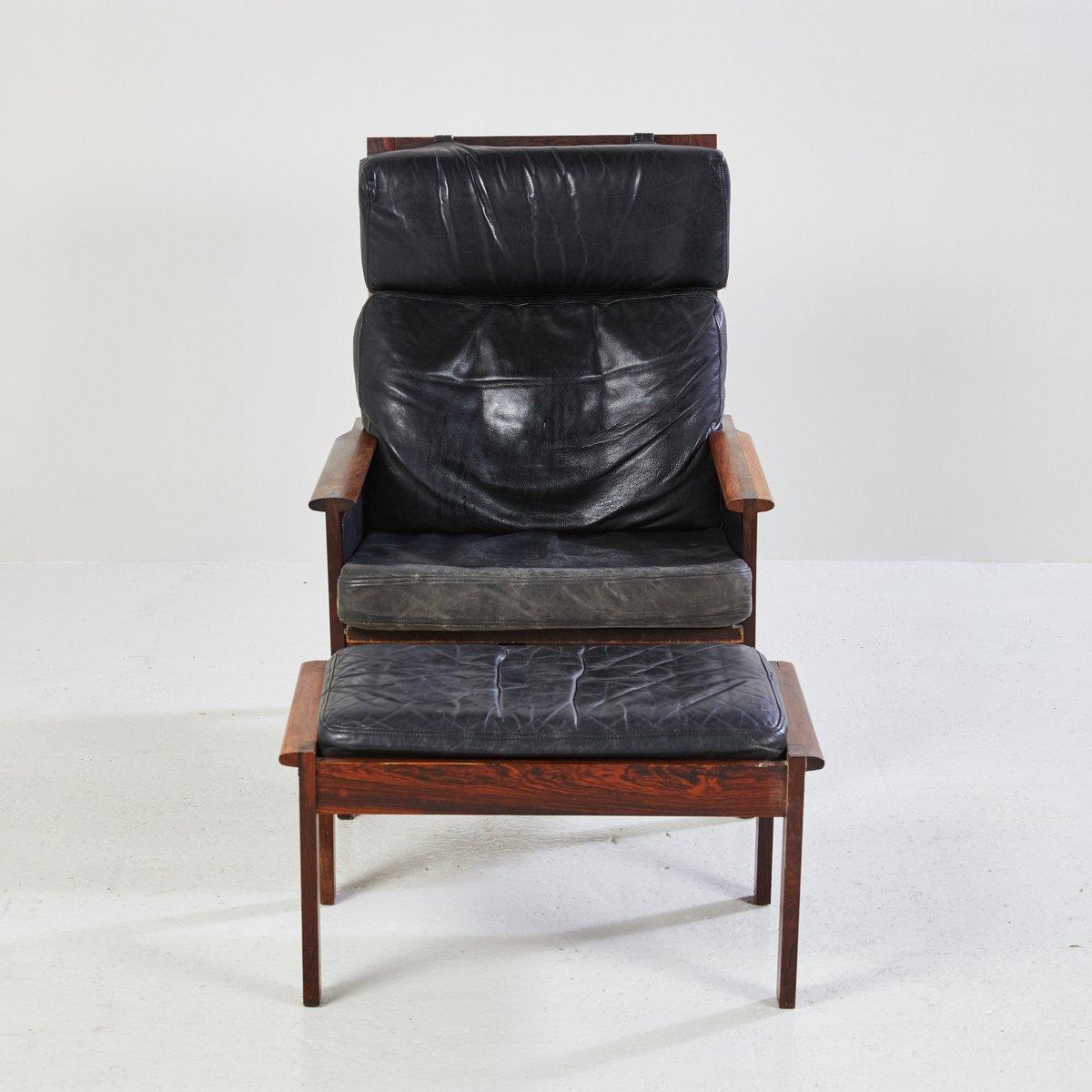 d nischer capella sessel mit fu hocker von illum wikkels f r niels eilersen 1950er bei pamono. Black Bedroom Furniture Sets. Home Design Ideas