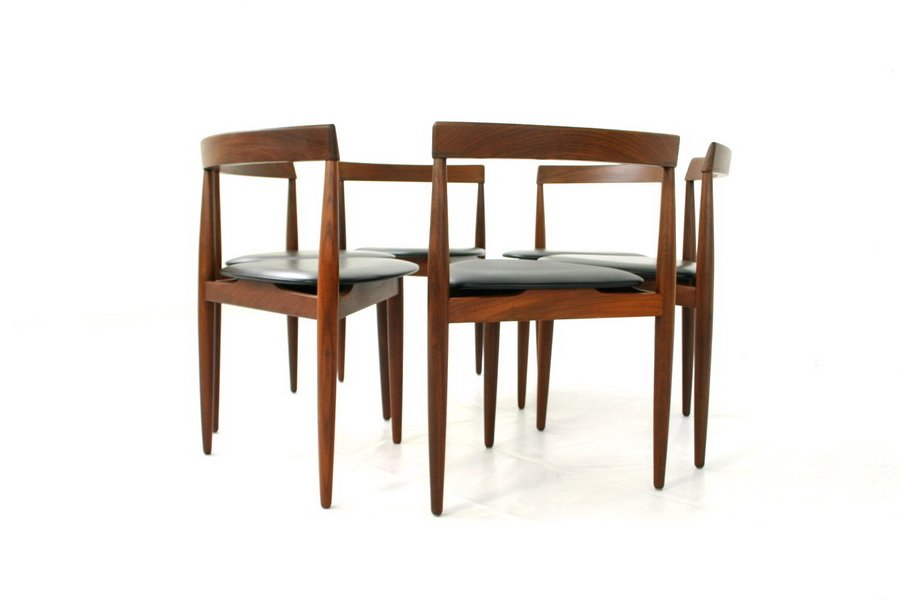 Mid Century Danish Teak Dining Chairs By Hans Olsen For