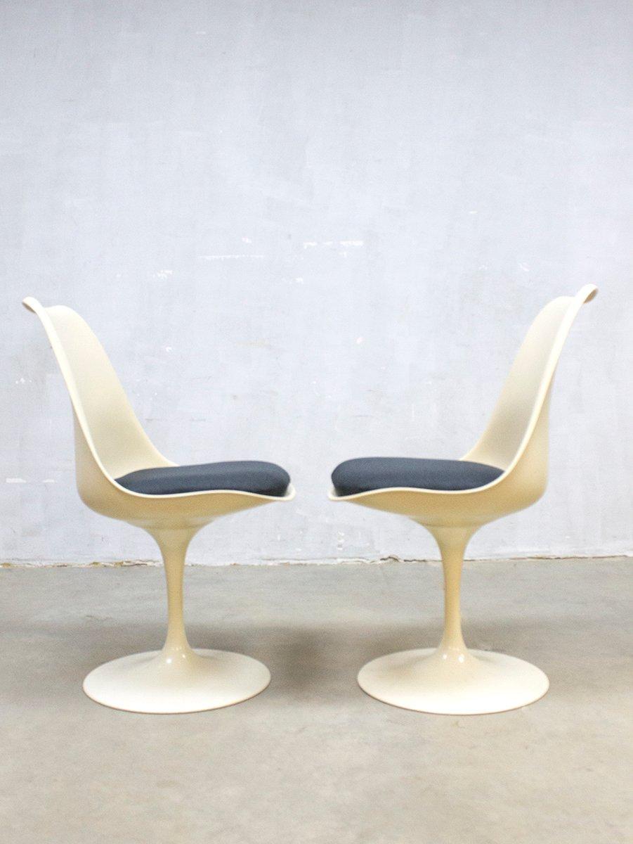 Chaises de salon tulipe mid century moderne par eero saarinen pour knoll 1950s set de 5 en - Chaise tulipe knoll vintage ...
