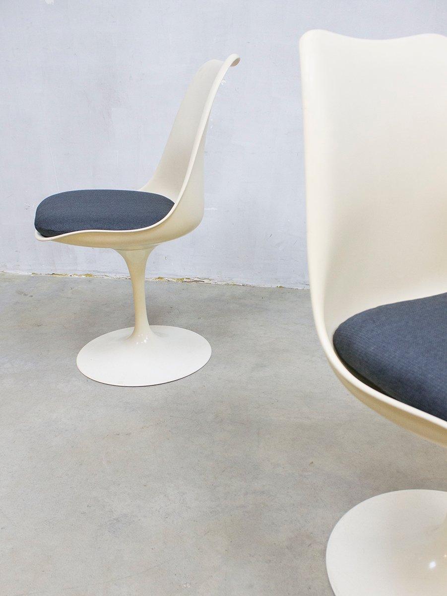 Mid Century Modern Tulip Dinner Chairs By Eero Saarinen