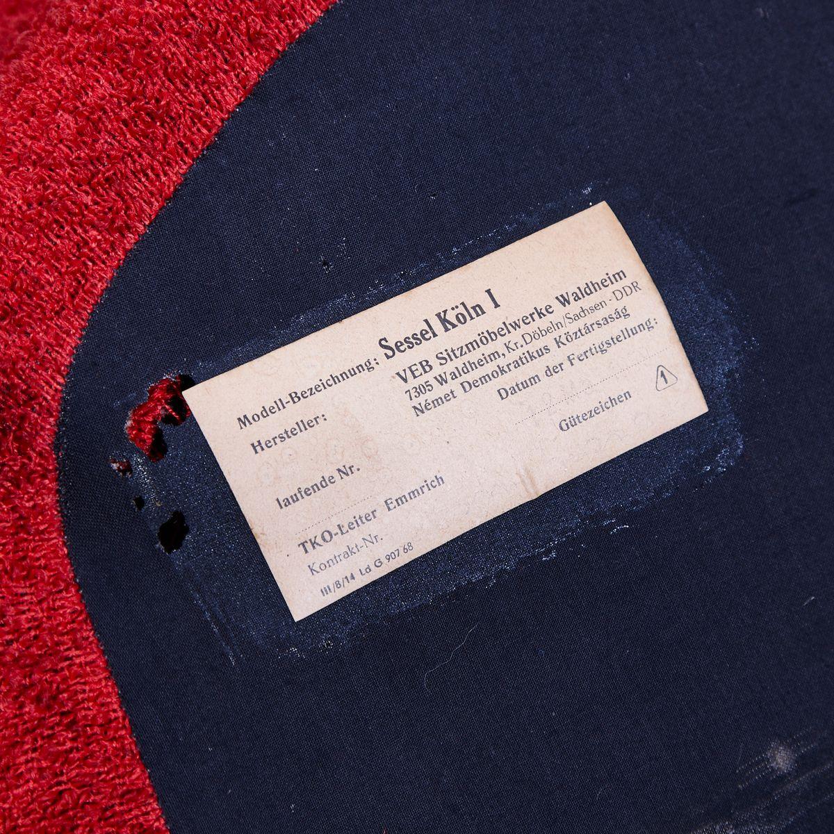 deutsche k ln sessel von veb 1960er 2er set bei pamono kaufen. Black Bedroom Furniture Sets. Home Design Ideas
