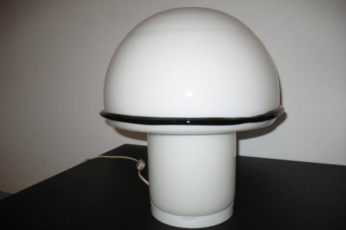 Weiße Pilz Tischlampe von Vistosi