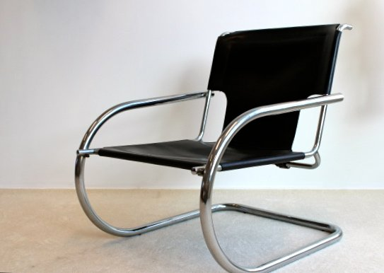 Vintage Chrome Leather Easy Chair From Arrben Italy