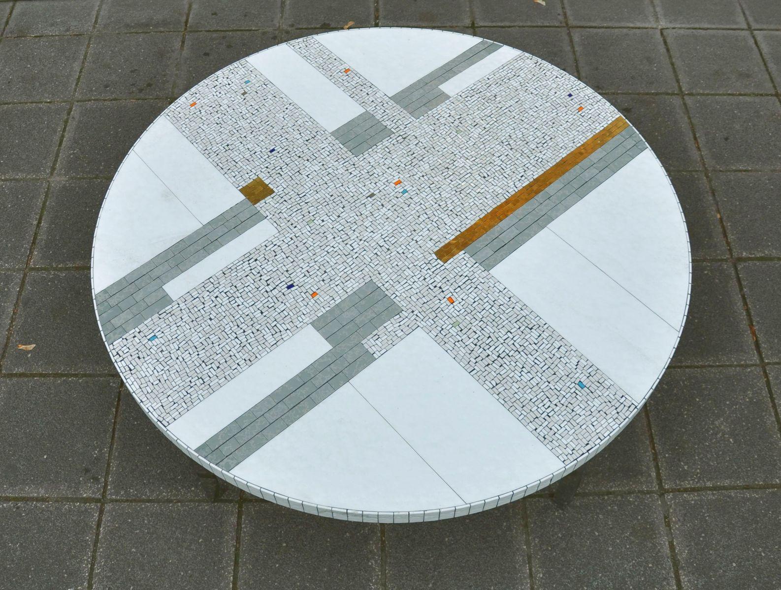 Couchtisch mit Mosaik von Heinz Lilienthal, 1960er