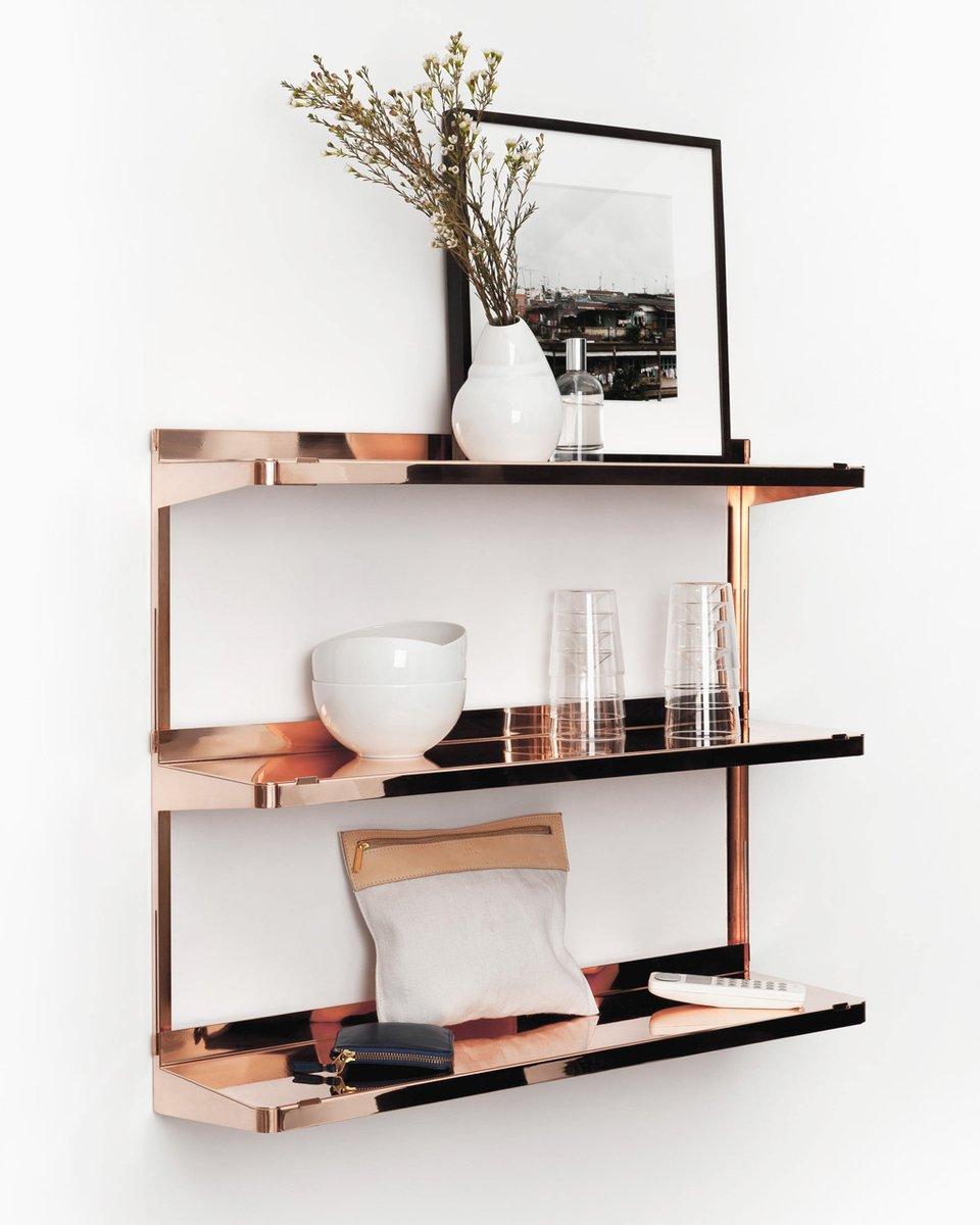 etag re click en cuivre par new tendency en vente sur pamono. Black Bedroom Furniture Sets. Home Design Ideas