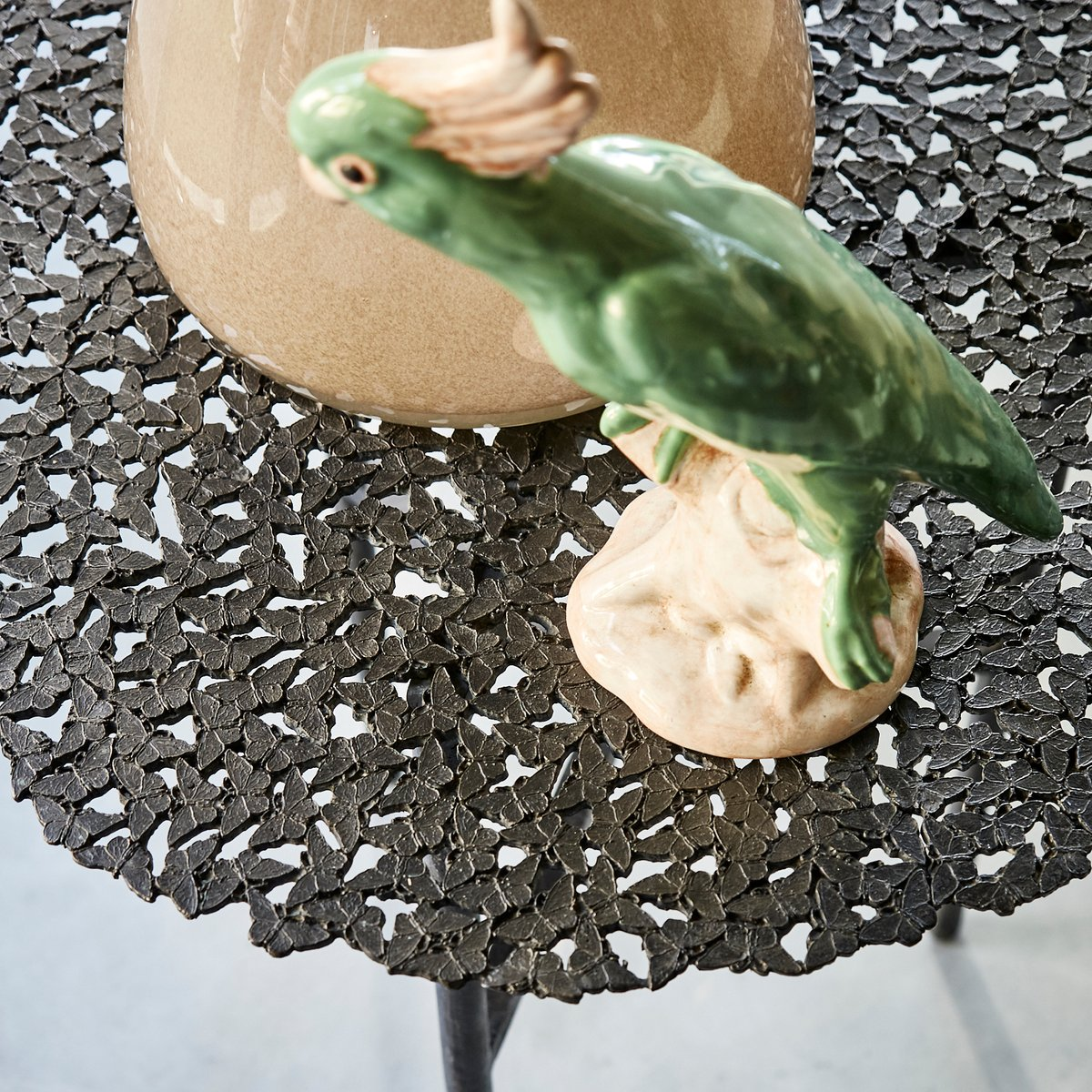Jean Cast Butterfly Indoor Or Outdoor Side Table In Blackened Brass By Fred Juul For Sale At Pamono