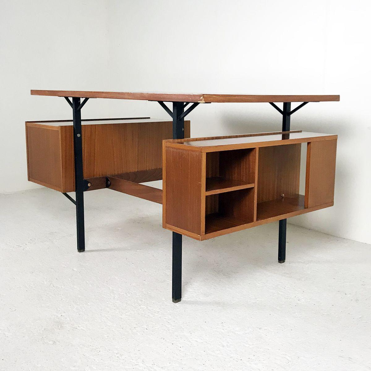 mahagoni schreibtisch 1950er bei pamono kaufen. Black Bedroom Furniture Sets. Home Design Ideas