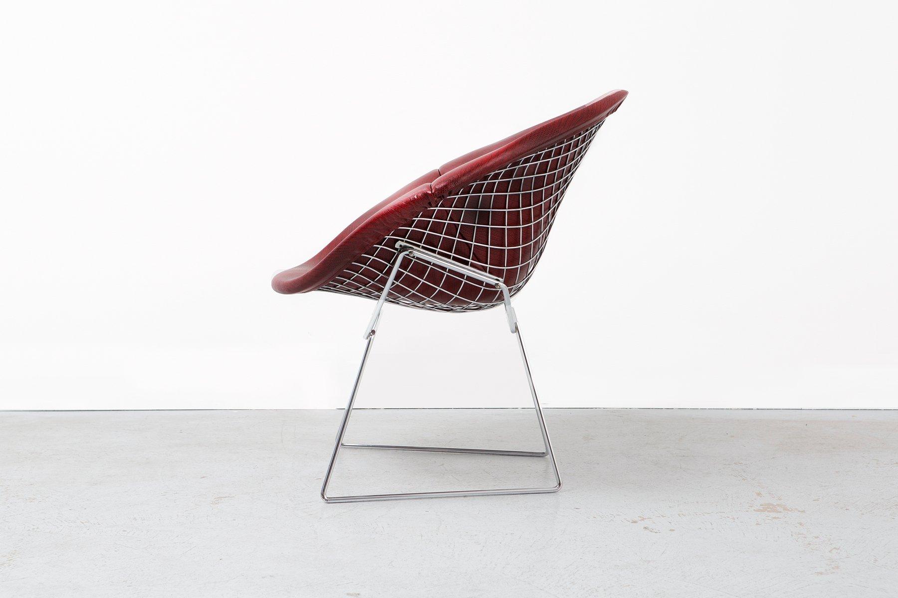 chaise diamond en faux cuir par harry bertoia pour knoll 1970s en vente sur pamono. Black Bedroom Furniture Sets. Home Design Ideas