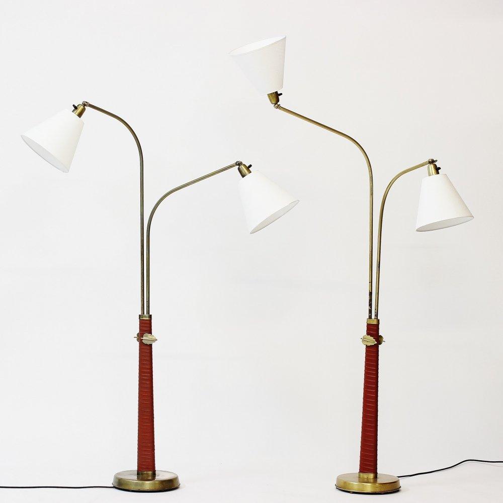 Stehlampen von Hans Bergström für Ateljé Lyktan, 1930er, 2er Set