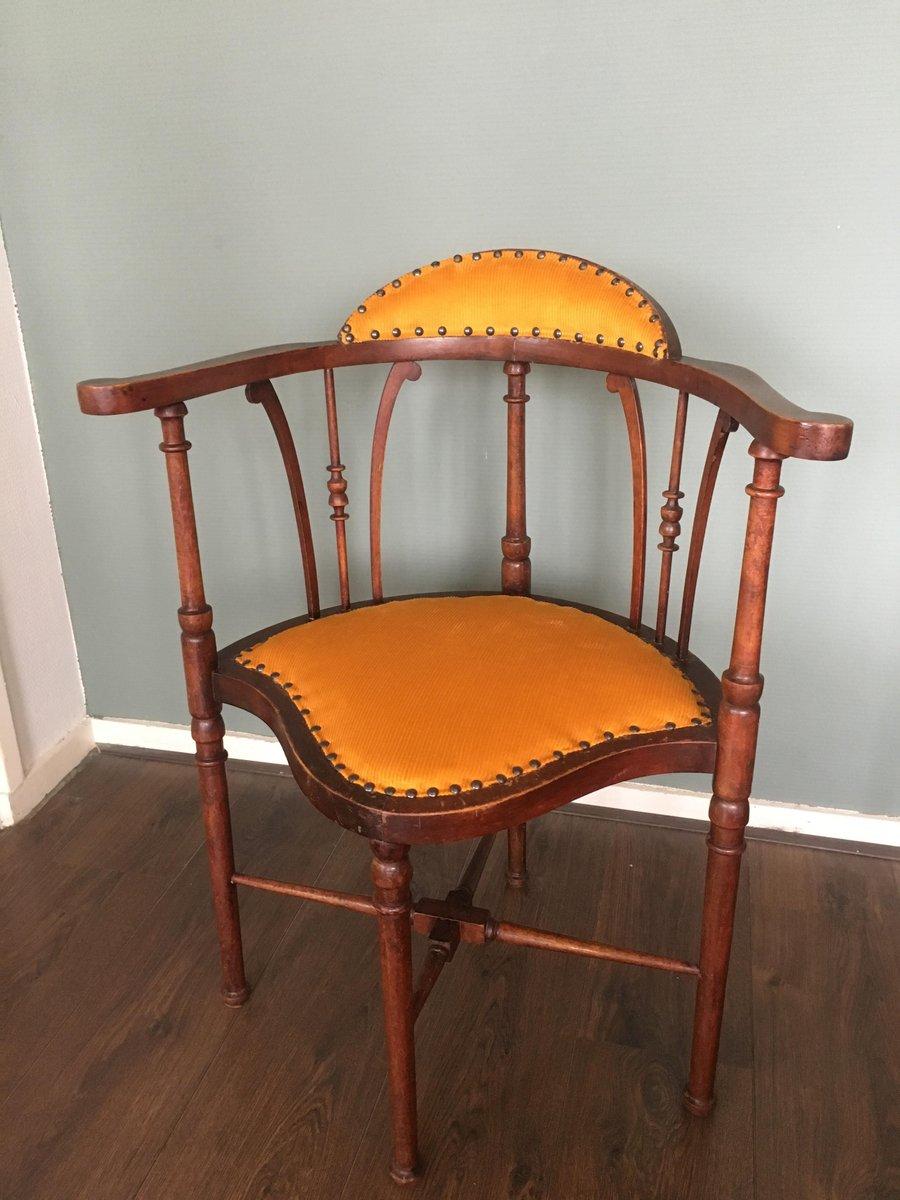 chaise d 39 appoint art nouveau en acajou 1910s en vente sur pamono. Black Bedroom Furniture Sets. Home Design Ideas