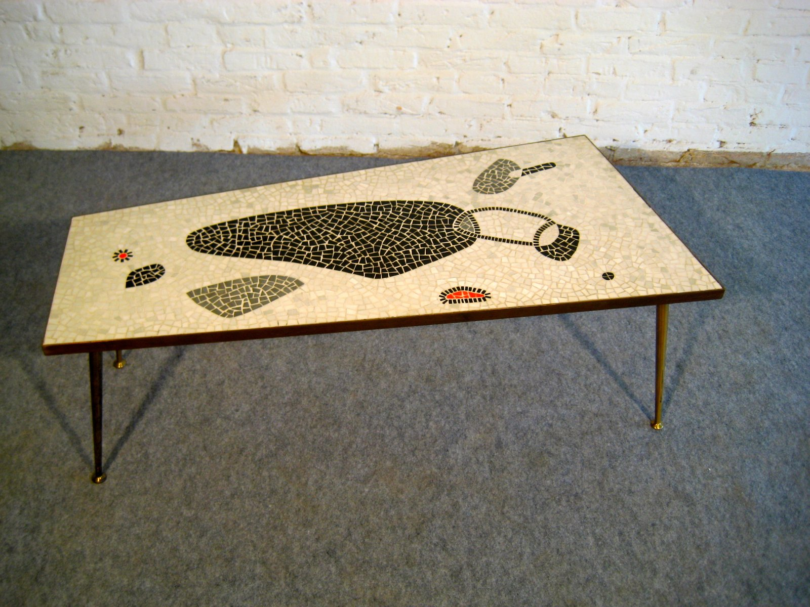 Mid Century Mosaik Couchtisch, 1950er