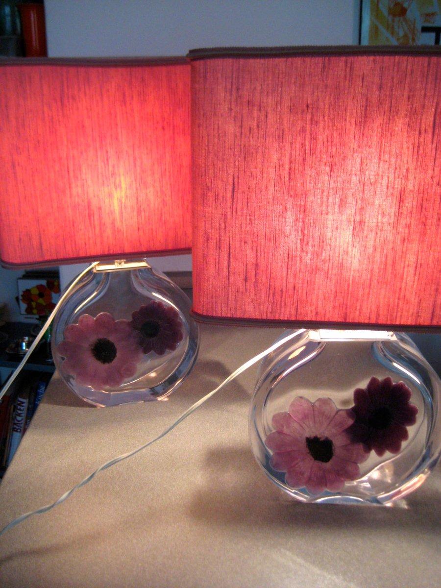 Coppelia Tischlampen von Daum, 1950er, 2er Set