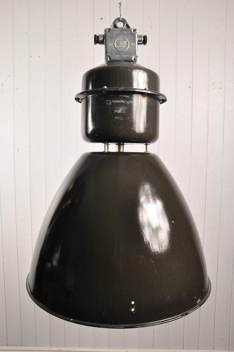 Große Vintage tschechische Fabrik Lampe